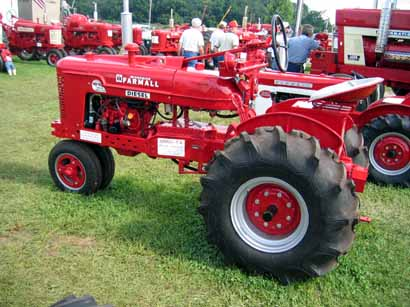 A sea of red tractors at the 2010 Red Power Roundup Event